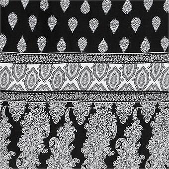 Viskose-Kleid mit Carmen-Ausschnitt, schwarz