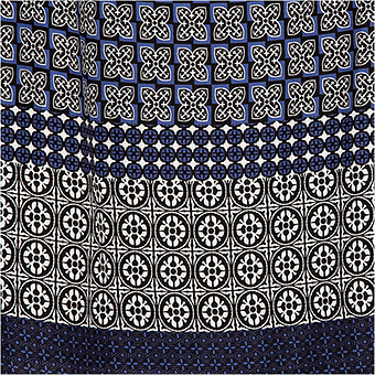 Viskose-Kleid mit Carmen-Ausschnitt, denim