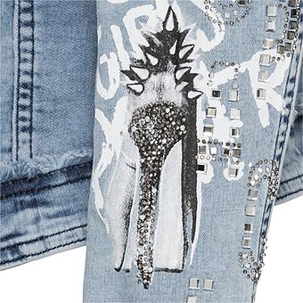 Jeansjacke mit High-Heel, light blue