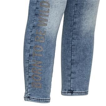 Jeggins mit Schriftzug, 64 cm, blue