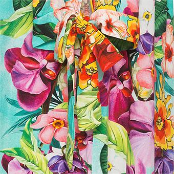 AUS DER WERBUNG: Tunika mit Blumen