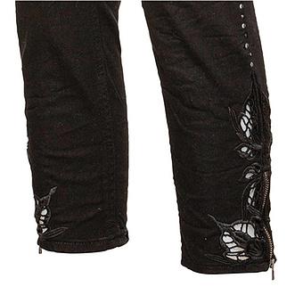 Hose mit Loch-Struktur 62cm, schwarz