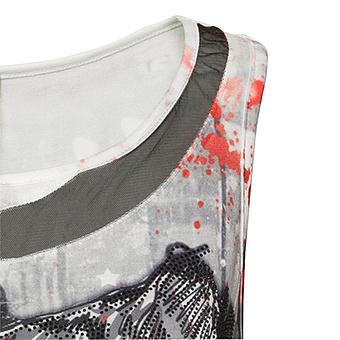 Top mit Animal-Print, schwarz-weiß