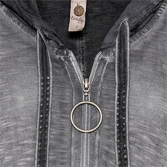 Shirt-Jacke mit Stern - Glitzersteinchen, magnet