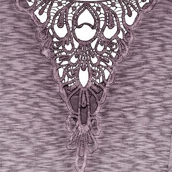 Shirt mit Häkelspitze, provence