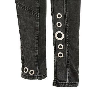 Sweat-Jeans mit Glitzersteinen 80cm, dark grey