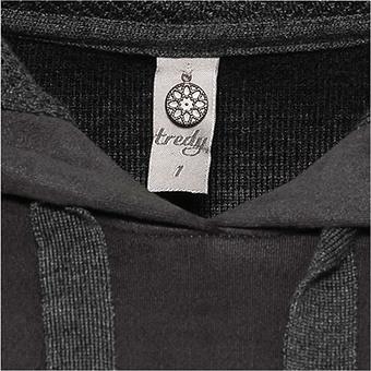 Pullover aus Veggie-Leder in Suede-Optik, magnet