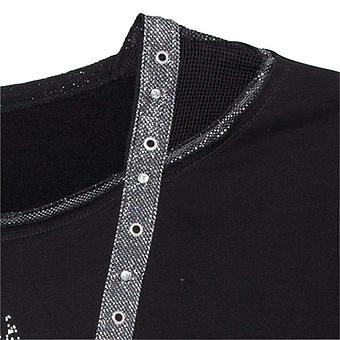 Sweaty mit metallic-Optik schwarz