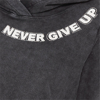 Sweaty 'Never give up', magnet