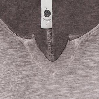 Shirt mit V-Ausschnitt, siena