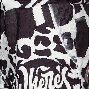 Hose im Animal-Alloverprint, schwarz-weiß