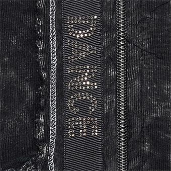Sweat-Jacke mit Schriftzug, magnet