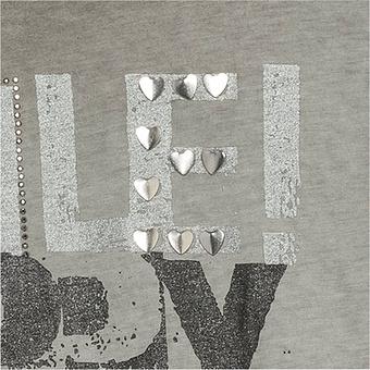 Shirt mit Front-Design Liebe, khaki