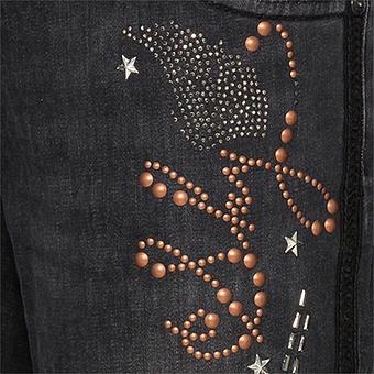 Jeans mit Nieten 78cm, dark grey