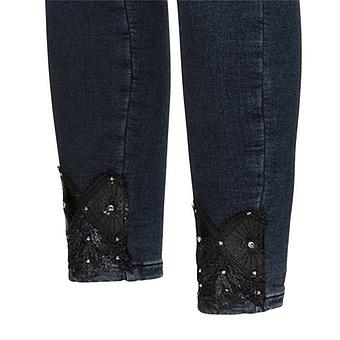Jeggings mit Veggie-Leder 70cm, dark blue