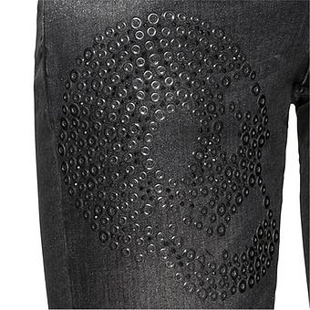 Sweat-Jeans mit Ketten 78cm, dark grey