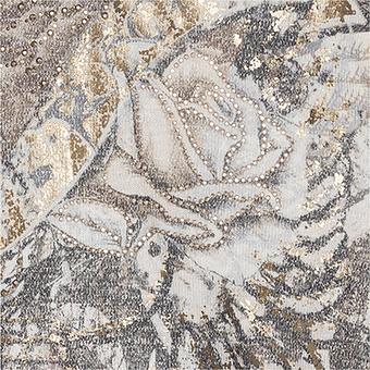 Vokuhila-Strickshirt im Alloverprint, siena