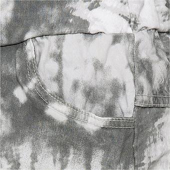 Hose im Batik-Print, grau