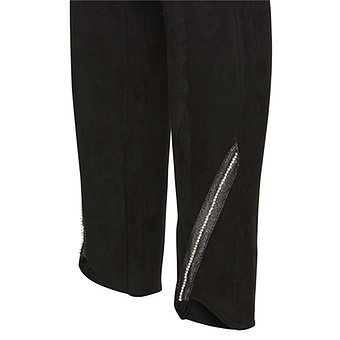 Leggings aus Veggie-Leder in Suede-Optik, schwarz