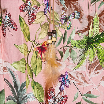 Viskose-Bluse im Floral-Print, rosé