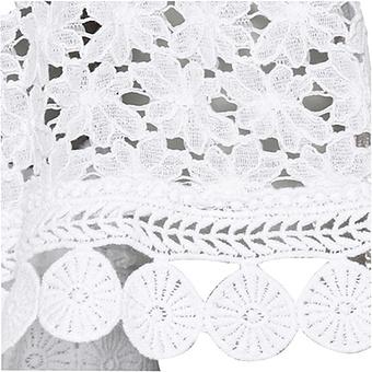 Tunika im floralen Design, weiß