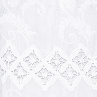 Bluse mit floraler Stickerei, weiß