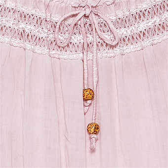 Bluse mit Puff-Ärmeln, rosenholz