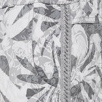 Hose mit floralem Muster, hellgrau