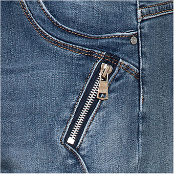 Skinny Jeans mit Reißverschlüssen 74cm, denim