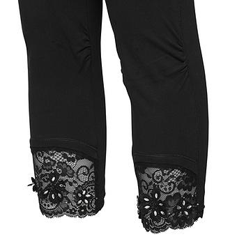 onlineshop tredy fashion baumwoll leggings mit spitze. Black Bedroom Furniture Sets. Home Design Ideas