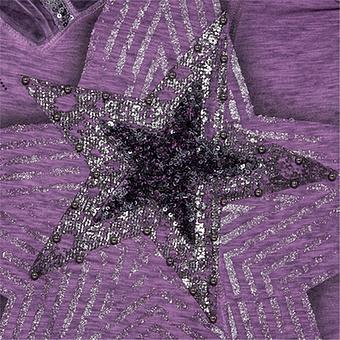 Shirt mit Stern-Design, pflaume