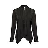 Shirt-Jacke in Suede-Optik, schwarz