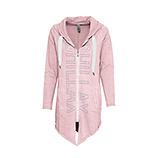 COSY Sweat-Jacke mit Ziersteinen, rosenholz