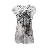 Shirt mit Georgette, grau