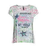 Shirt im Alloverprint, green glow - pink glow