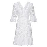 Kleid aus Floral-Spitze, weiß