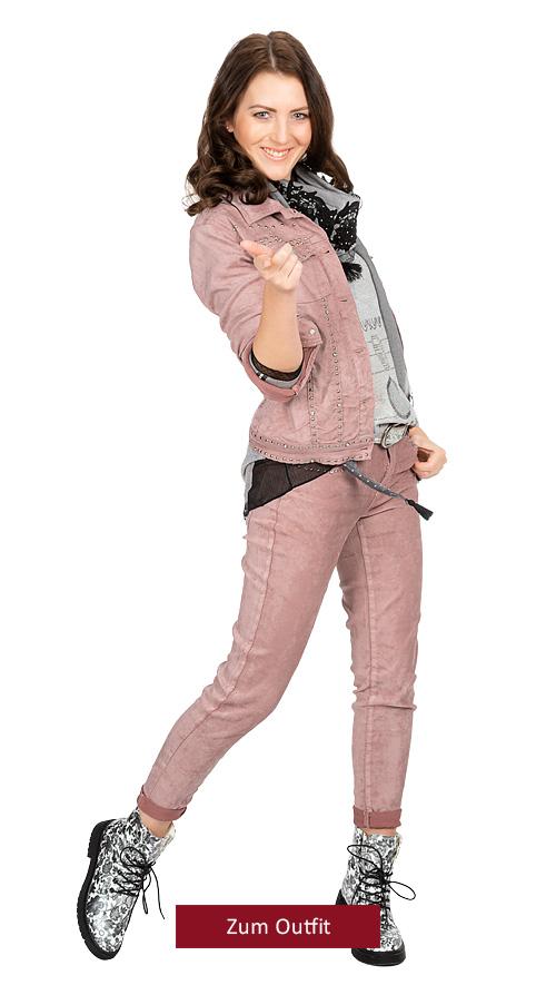 "Outfit ""think pink"" Veloursoptik"