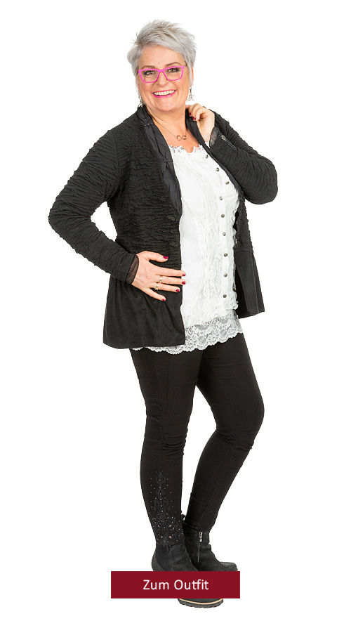 """Outfit """"Classic Chic"""" in Schwarz-Offwhite 12.2018"""