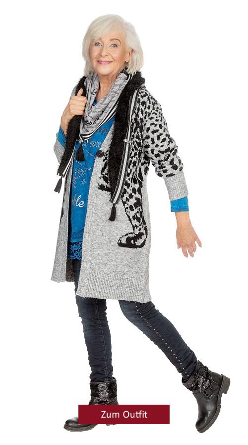 "Outfit ""Kuscheliges Animaldesign in blau"" 10.2019"