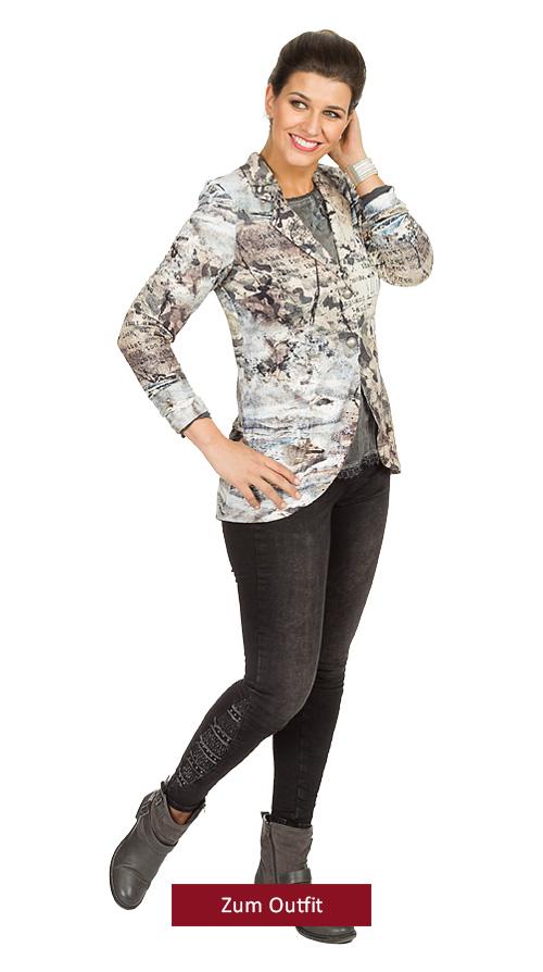 "Outfit ""Fashion Business"" in Denim-Grau 10.2018"