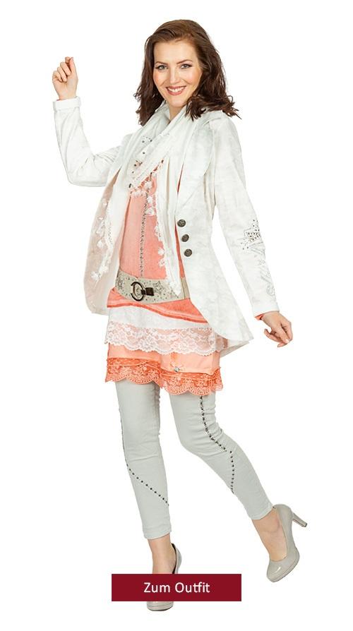 "Outfit ""Spitzenmäßig"" peach-offwhite 02.2019"