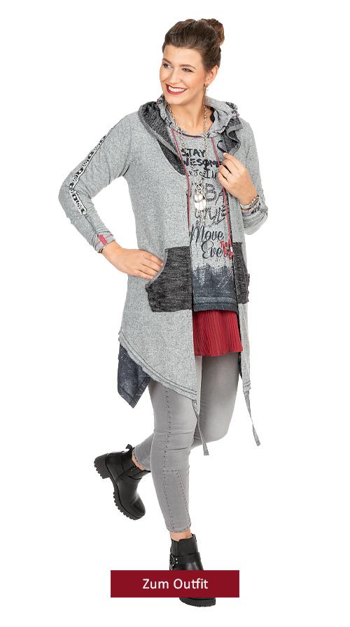 """Outfit """"Sportlich in grau- chianti"""" 10.2019"""