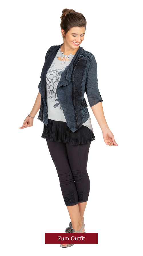"""Outfit """"navy trifft auf silber"""" 07.2019"""